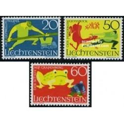 3 عدد تمبر افسانه پریون - لیختنشتاین 1969