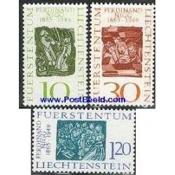 3 عدد تمبر تابلو - فردیناند نیگ - لیختنشتاین 1965