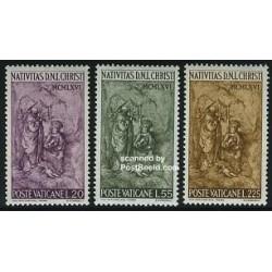 3 عدد تمبر تابلو - کریستمس - لیختنشتاین 1966