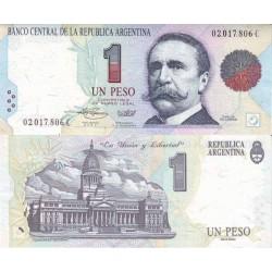 اسکناس 1 پزو - آرژانتین 1992 تک