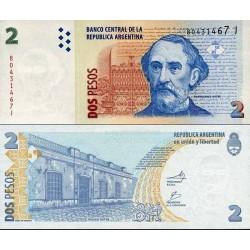 اسکناس 2 پزو - آرژانتین 2002
