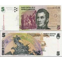 اسکناس 5 پزو - آرژانتین 2002 تک