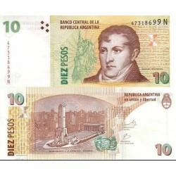 اسکناس 10 پزو - آرژانتین 2003 تک