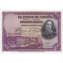 اسکناس 50 پزوتا - اسپانیا 1928 غیربانکی