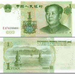 اسکناس 1 یوان - یادبود مائو تسه تونگ - چین 1999