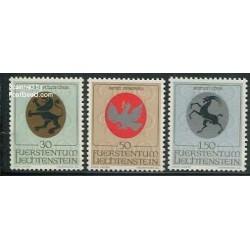 3 عدد تمبر آرمهای مذهبی - لیختنشتاین 1969