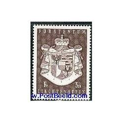 1 عدد تمبر نشان ملی - لیختنشتاین 1969