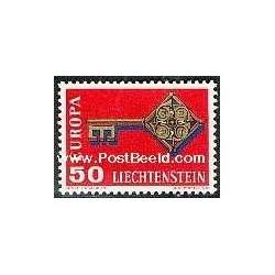 1 عدد تمبر مشترک اروپا - Europa Cept - لیختنشتاین 1968