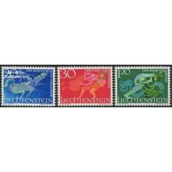 3 عدد تمبر مشترک افسانه پریان - لیختنشتاین 1967