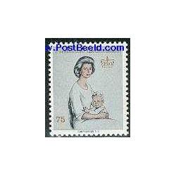 1 عدد تمبر ملکه - لیختنشتاین 1965