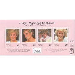 سونیرشیت یادبود مرگ دایانا - پرنسس ولز - جزایر نورفولک 1998
