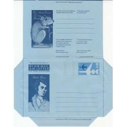 پاکت نامه هوائی 6 پنس  - آئروگرام طراحی  Fraser Haston - انگلستان