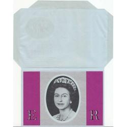 پاکت نامه هوائی 10/5 پنس- آئروگرام طراحی Stuart Rose - بیست و پنجمین سالگرد تاجگذاری ملکه - انگلستان