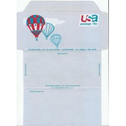 پاکت نامه هوائی 15 سنت - آئروگرام - مسابقه بین المللی بالن سواری با هوای داغ - آمریکا