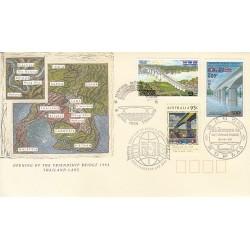 پاکت مهر روز - افتتاپل دوستی بین تایلند و لائوس  - استرالیا 1994