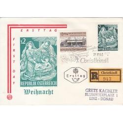 پاکت مهر روز - کریستمس  - اتریش 1963