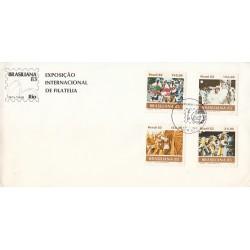پاکت مهر روز -  نمایشگاه بین المللی تمبر برزیلیانا - برزیل 1983