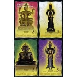 4 عدد تمبر  مجسمه های مذهبی - برجسته - تایلند 2009