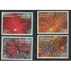 4 عدد تمبر سال جدید - آتش بازی - تایلند 2011