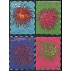 4 عدد تمبر سال جدید - آتش بازی - تایلند 2012