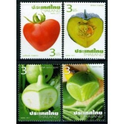 4 عدد تمبرمیوه ها و سبزیجات - تایلند 2011