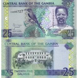 اسکناس 25 دالاسی - گامبیا 2006