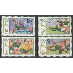 4 عدد تمبر راگبی - آفریقای جنوبی 1989