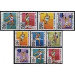 10 عدد تمبر المپیک مکزیکو - فجیره 1968