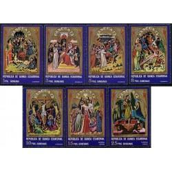 7 عدد تمبر تابلو - گینه استوائی 1972