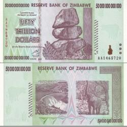 اسکناس 50تریلیون دلار- 50.000.000.000.000 دلار - زیمباوه 2005