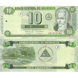 اسکناس 10 کردوباس - نیکاراگوئه 2002