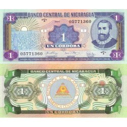 اسکناس 1 کردوبا - نیکاراگوئه 1990