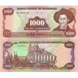 اسکناس 1000 کردوبا - نیکاراگوئه 1985