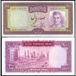152 - اسکناس 100 ریال جمشید آموزگار - مهدی سمیعی - دوره دوم - تک