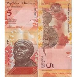 اسکناس 5 بولیوار - ونزوئلا 2008