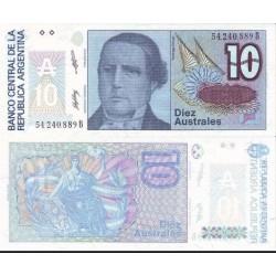اسکناس 10 اوسترال - آرژانتین 1989