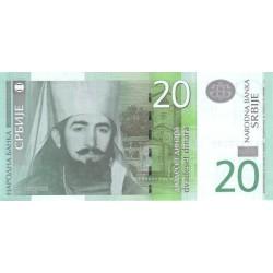 اسکناس 20 دینار - صربستان 2006