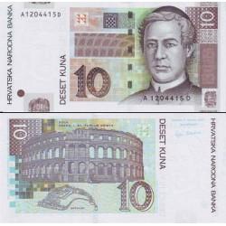 اسکناس 10 کونا - کرواسی 2001