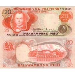 اسکناس 20 پیزو - فیلیپین 1970