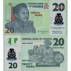 اسکناس پلیمر 20 نایرا - نیجریه 2012