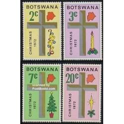 4 عدد تمبر کریستمس  - بوتسوانا 1972