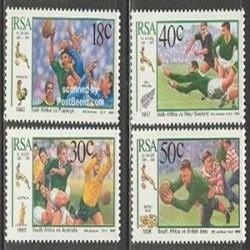 4 عدد تمبر راگبی - آفریقا ج 1989