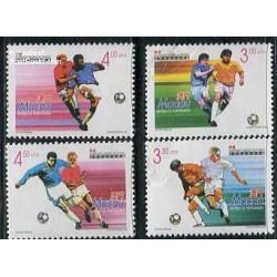 4 عدد تمبر جام جهانی فوتبال فرانسه  - ماکائو 1998