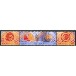 4 عدد تمبر کاشی ها - ماکائو 1998