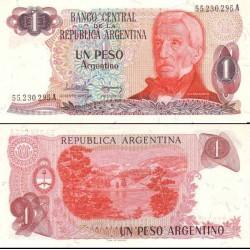 اسکناس 1 پزو - آرژانتین 1983