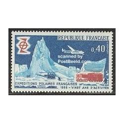1عدد تمبر سفرهای قطبی - فرانسه 1968