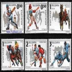 6 عدد تمبر ورزشی - بلغارستان 1992