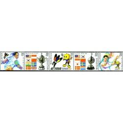 5 عدد تمبر جام تنیس توماس - مالزی 2000