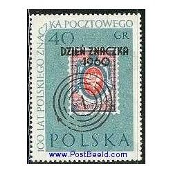 1 عدد تمبر سورشارژ روز تمبر - لهستان 1960