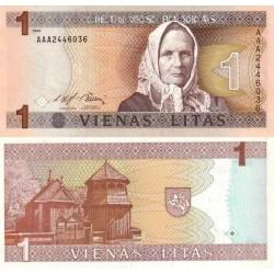 اسکناس 1 لیتاس - لیتوانی 1994